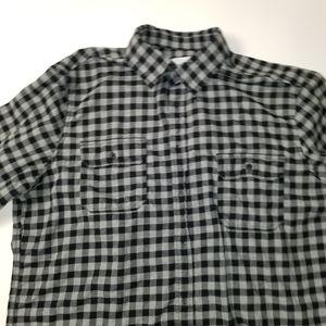 Goodfellow Men's button down blk/gray flannel XXL